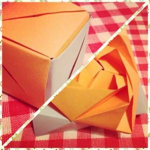 cub trandafir origami