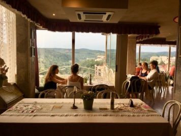 Vedere Peisaj Veliko Tarnovo, restaurant Shastliveca